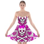 Skull Princess Strapless Bra Top Dress