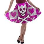 Skull Princess A-line Skater Skirt