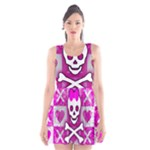 Skull Princess Scoop Neck Skater Dress