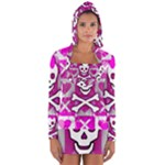 Skull Princess Long Sleeve Hooded T-shirt
