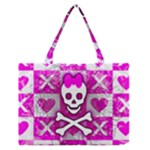 Skull Princess Zipper Medium Tote Bag
