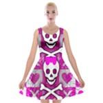 Skull Princess Velvet Skater Dress