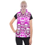 Skull Princess Women s Button Up Vest