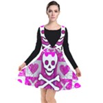 Skull Princess Plunge Pinafore Dress