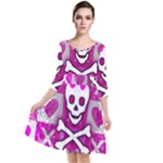 Skull Princess Quarter Sleeve Waist Band Dress