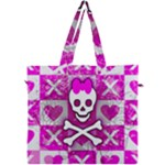 Skull Princess Canvas Travel Bag