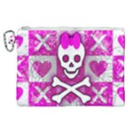 Skull Princess Canvas Cosmetic Bag (XL)