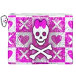 Skull Princess Canvas Cosmetic Bag (XXL)