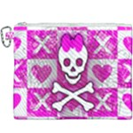 Skull Princess Canvas Cosmetic Bag (XXXL)