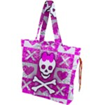 Skull Princess Drawstring Tote Bag