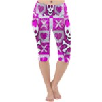 Skull Princess Lightweight Velour Cropped Yoga Leggings