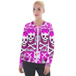 Skull Princess Velour Zip Up Jacket