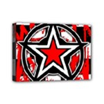 Star Checkerboard Splatter Mini Canvas 7  x 5  (Stretched)