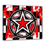 Star Checkerboard Splatter Canvas 24  x 20  (Stretched)