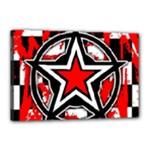 Star Checkerboard Splatter Canvas 18  x 12  (Stretched)