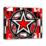 Star Checkerboard Splatter Deluxe Canvas 20  x 16  (Stretched)