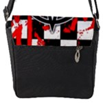 Star Checkerboard Splatter Flap Closure Messenger Bag (S)