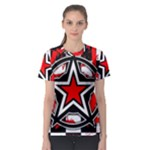 Star Checkerboard Splatter Women s Sport Mesh Tee