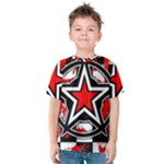 Star Checkerboard Splatter Kids  Cotton Tee