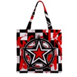 Star Checkerboard Splatter Grocery Tote Bag