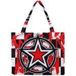 Star Checkerboard Splatter Mini Tote Bag