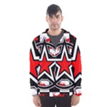 Star Checkerboard Splatter Men s Hooded Windbreaker
