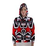 Star Checkerboard Splatter Women s Hooded Windbreaker