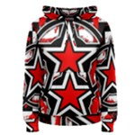 Star Checkerboard Splatter Women s Pullover Hoodie