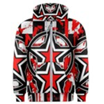 Star Checkerboard Splatter Men s Zipper Hoodie