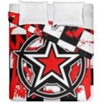 Star Checkerboard Splatter Duvet Cover Double Side (California King Size)