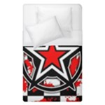 Star Checkerboard Splatter Duvet Cover (Single Size)