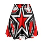 Star Checkerboard Splatter High Waist Skirt