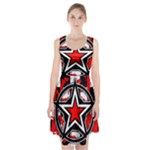 Star Checkerboard Splatter Racerback Midi Dress