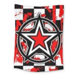 Star Checkerboard Splatter Medium Tapestry