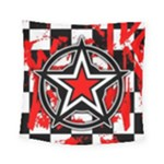 Star Checkerboard Splatter Square Tapestry (Small)