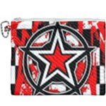 Star Checkerboard Splatter Canvas Cosmetic Bag (XXXL)