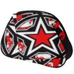 Star Checkerboard Splatter Full Print Accessory Pouch (Big)