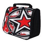 Star Checkerboard Splatter Full Print Travel Pouch (Small)