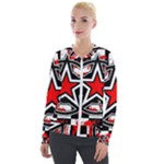Star Checkerboard Splatter Velour Zip Up Jacket