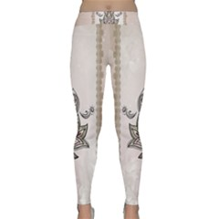 Elegant Decorative Mandala Design Classic Yoga Leggings by FantasyWorld7
