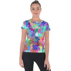 Colorful Spots                                  Short Sleeve Sports Top by LalyLauraFLM