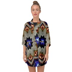 Background Mandala Star Half Sleeve Chiffon Kimono by Mariart