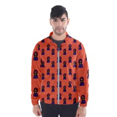 Nerdy 60s  Girl Pattern Orange Men s Windbreaker by snowwhitegirl