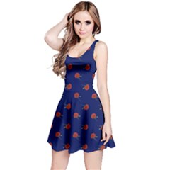 Red Rose Blue Reversible Sleeveless Dress