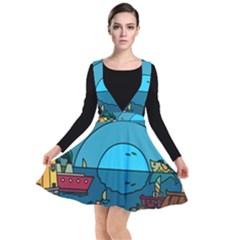 Artwork Art Kids Design Creative Plunge Pinafore Dress