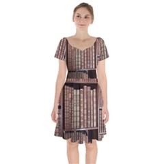 Library Books Knowledge Short Sleeve Bardot Dress