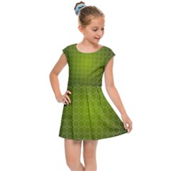Hexagon Background Plaid Kids  Cap Sleeve Dress by Mariart
