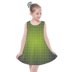 Hexagon Background Plaid Kids  Summer Dress by Mariart