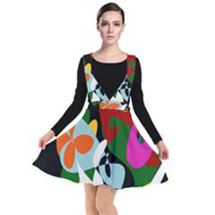 Sahara Street Botanical Garden Plunge Pinafore Dress