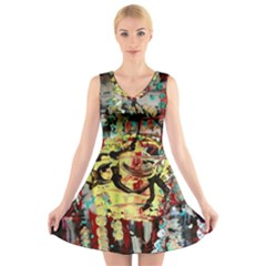 Little Bird V Neck Sleeveless Dress by bestdesignintheworld
